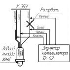 Esquema del emulador de sensor de oxígeno B1S2