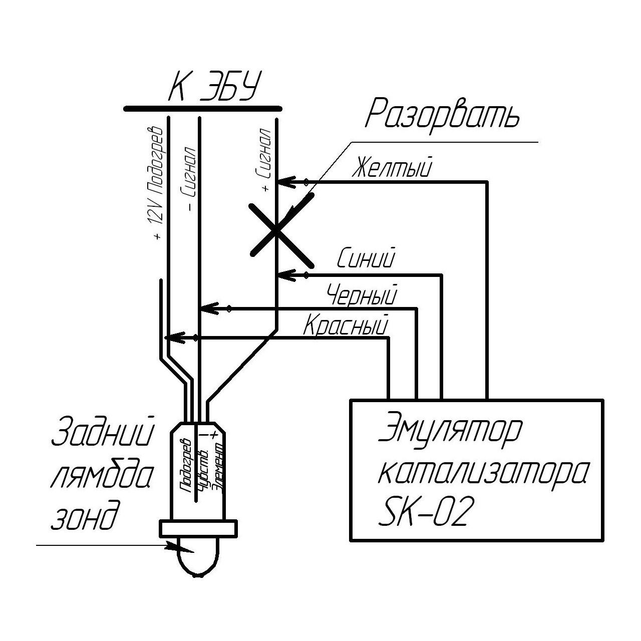 buy emulator catalyst and oxygen sensor with warranty Durango O2 Sensor Wiring Diagram lambda emulator and catalyst off dtc p0420 error
