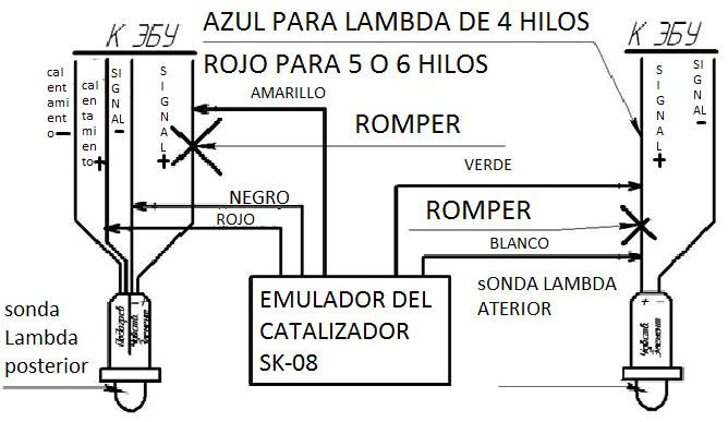 Emulador del katalizador p0420 SK-08